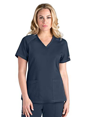 BARCO Womens Greys Anatomy V-Neck Scrub Top Steel Medium