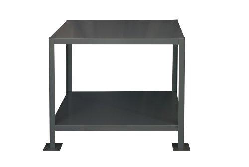 Durham Steel Medium Duty Machine Table MT183630-2K295  2 Shelves  2000 lbs Capacity  36 Length x 18 Width x 30 Height