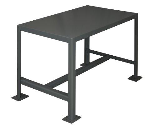 Durham Steel Medium Duty Machine Table MT243618-2K195  1 Shelves  2000 lbs Capacity  36 Length x 24 Width x 18 Height