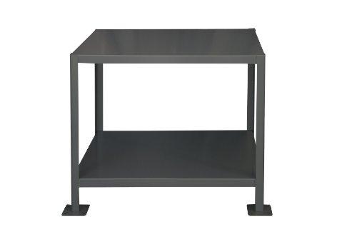 Durham Steel Medium Duty Machine Table MT243630-2K295 2 Shelves 2000 lbs Capacity 36 Length x 24 Width x 30 Height Gray