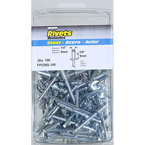 Surebonder FPC86S-100 14-inch Steel Medium Rivets 100 per box