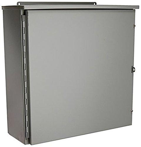 Wiegmann RHC242408 RHC-Series NEMA 3R Rainproof Hinge Cover Wall-Mount Enclosure Carbon Steel Medium 24 x 24 x 8