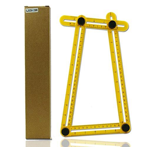 Angle Measurement Tool LEOKOR Angle Ruler Template Tool Multi-Angle Measuring Ruler Tools for Carpenter Craftsman