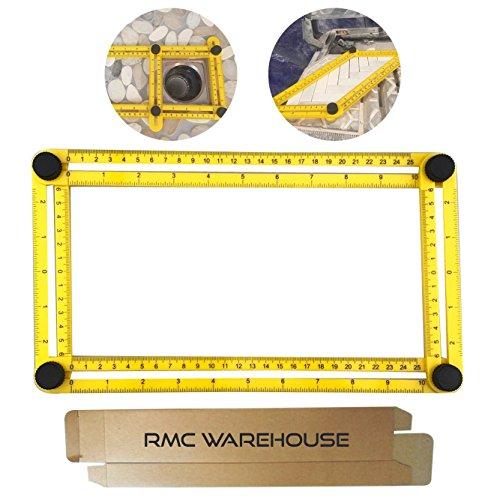 Angleizer Template Tool - Measures All Angles and Forms Angle-izer Angle Template Tool and Angle Ruler for Handymen Builders Craftsmen DIY