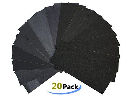 LK-Spring Waterproof Sandpaper 20 Sheets Dry Wet Assorted Grit of 150180240320400600800100012001500 for Furniture AutomotiveFinishing ect