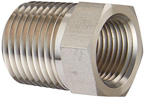 Brennan Industries 5406-08-06-SS Stainless Steel Reducer Bushing Fitting 12-14 NPTF x 38-18 NPTF Thread