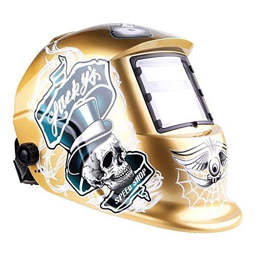 IHP Pro Solar Auto Darkening Welding Helmet Tig Mig Arc Mask Grinding Welder Mask - Champagne Skull