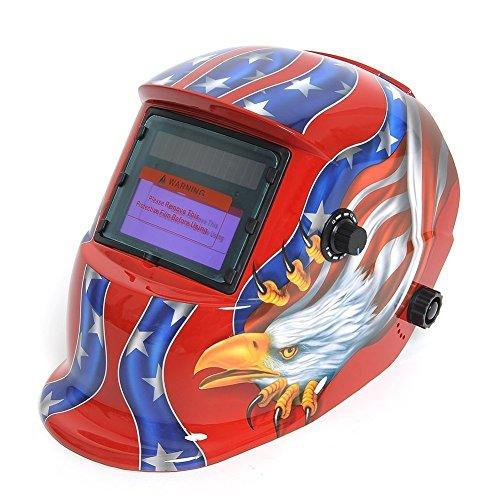 SODIALR Solar auto darkening welding helmet Mask of Tig Mig arc masking gun welder eagle