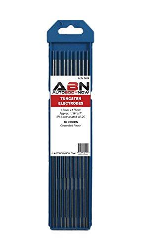 ABN Tungsten Welding Electrodes 116 x 7 Inch 16mm x 175mm 10-Pack Blue 2 WL20 Lanthanated TIG MIG Arc AC DC