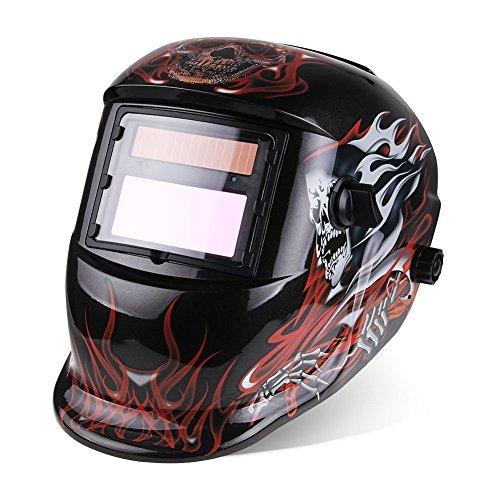 IHP Pro Solar Auto Darkening Welding Helmet Tig Mig Arc Mask Grinding Welder Mask - Death Skull