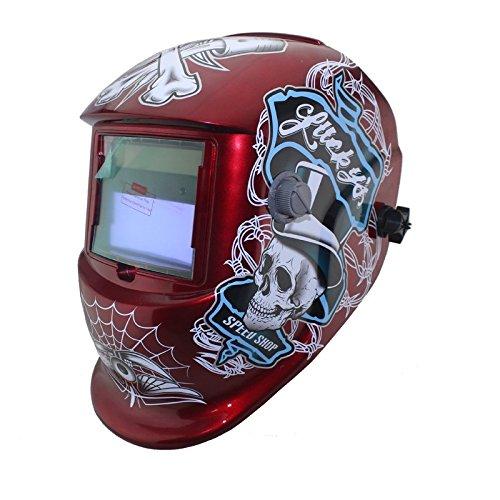 NEW Solar auto darkening MMA TIG MIG ARC welding mask welder cap helmets face mask Red