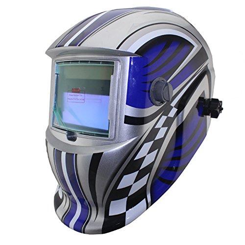NEW blue Fire Solar auto darkening MMA TIG MIG ARC welding mask welder cap helmets face mask