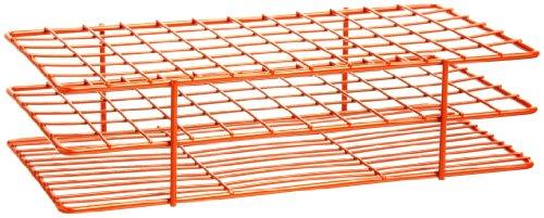 Bel-Art F18757-0003 Poxygrid Test Tube Rack 13-16mm 72 Places 9¹₂ x 5¹₈ x 2¹₂ in Orange