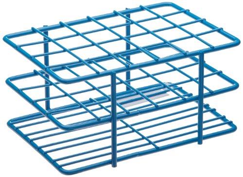 "Bel-Art F18788-1601 Poxygrid ""Half-Size"" Test Tube Rack 15-16mm 24 Places 4¹⁵₁₆ x 3⁵₈ x 2¹₂ in Blue"