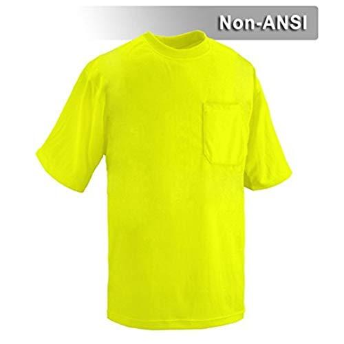 Hi Vis Short-Sleeve Safety Shirt - Non-ANSI Construction Shirts For Men 6XL