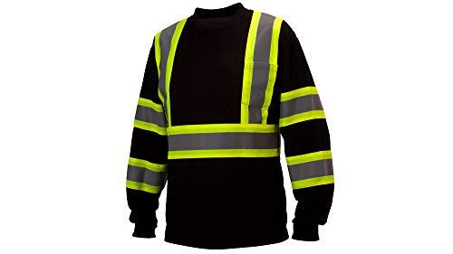 Pyramex RCLTS31 Series Hi-Vis Long Sleeve Safety T-Shirt Black 3X-Large