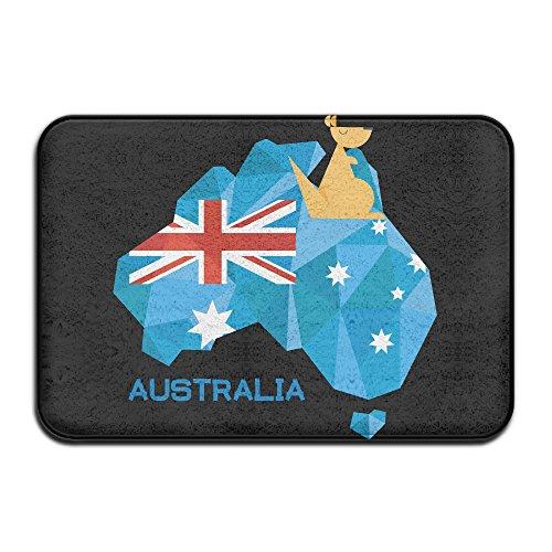 Stralia Flag Map Australia National Pride Fashion Coral Velvet And Memory Foam Bath Mats