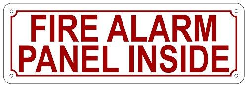 FIRE Alarm Panel Inside Sign WhiteReflective Aluminium 4X12