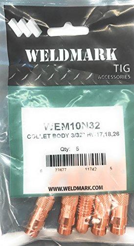 Weldmark TIG Collet Body 17 18 26 Torch Pk  5 10N32 - 332
