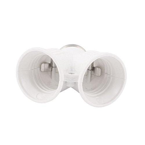 Uxcell Lamp Bulb Holder Adapter Converter E27 Male to 2E27 Female Base Socket