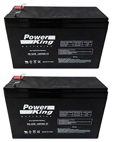 12V 7AH Sealed Lead Acid SLA Battery for RAZOR Scooter 2PK