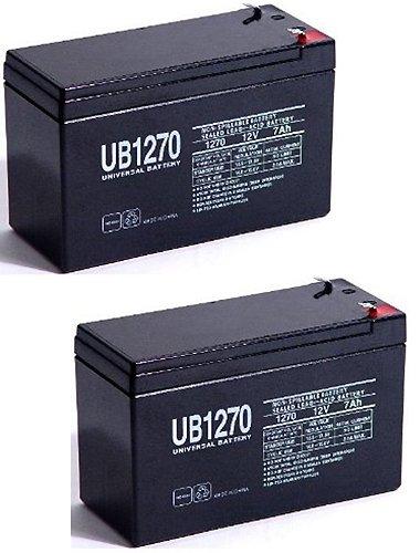 12V 7Ah Scooter Bike Battery replaces 7ah Haijiu 6-DFM-7 6 DFM 7 MK ES7-12 - 2 Pack