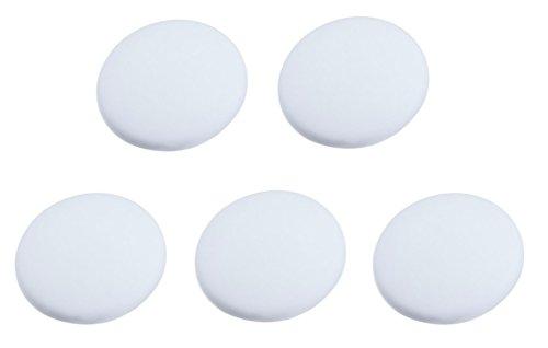 Efbock Silicon Wall Protectors Self Adhesive Door stopper Door Handle Bumper Guard Stopper Rubber Stop white 5pcs
