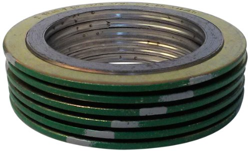 Sterling Seal Supply SSS 90001250316GR400X6 Green Band with Gray Stripe 316LSSGraphite Spiral Wound Gasket -150 to 842 Degrees Fahrenheit Temperature Range 188 ID 325 OD for 1-14 Pipe Size Pack of 6