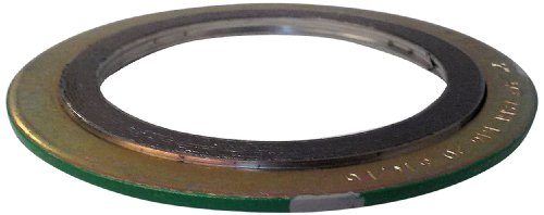 Sur-Seal Inc Teadit 900018316GR300 Green Band with Gray Stripe 316LSSGraphite Spiral Wound Gasket -150 to 842 Degrees Fahrenheit Temperature Range 1869 ID 2350 OD for 18 Pipe Size