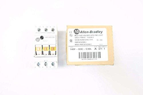 ALLEN BRADLEY 140F-D3C-C30L FUSE HOLDER 30A AMP 3P 600V-AC D569716
