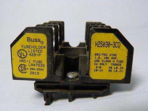 Bussmann H25030-3CO Class H Fuse Holder 30A 3-Pole 250V