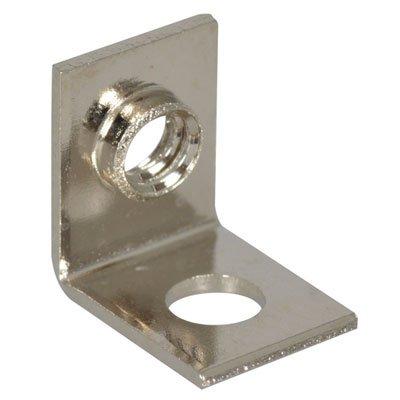 Keystone 634 Universal Mounting Bracket Threaded Hole Right Angle Brass Nickel Plating Pack of 10