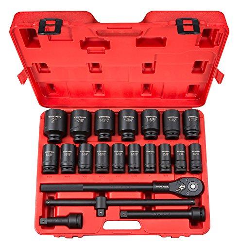 TEKTON 34 Inch Drive Deep 6-Point Impact Socket Set 22-Piece 78-2 in  48995