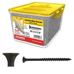 GRABBER 10 x 3-12 Coarse Drywall Screw Scavenger Head - 5 Lbs