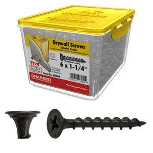 GRABBER 6 x 1-14 Coarse Drywall Screw Scavenger Head - 5 Lbs