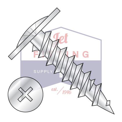 8X3 Fine Drywall Screws  Phillips  Modified Truss Head  Steel  Zinc QUANTITY 1500