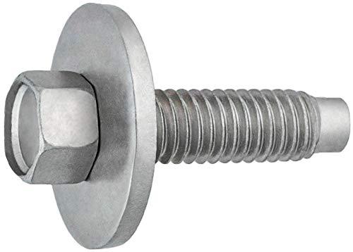 Clipsandfasteners Inc Hex Head SEMS Body Bolt Zinc M6-10 X 225mm