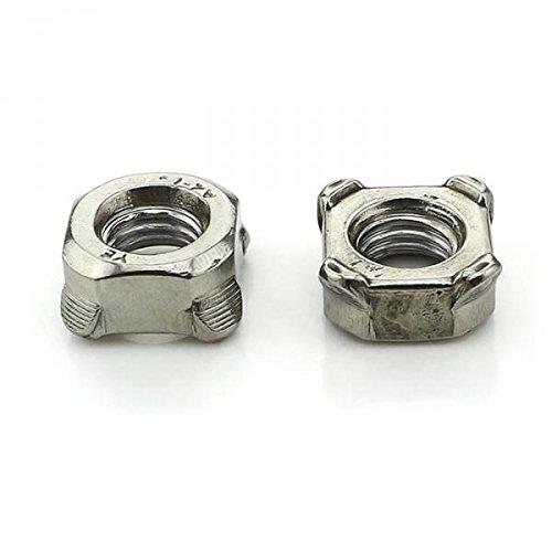MagiDeal 10pcs M4M5M6M8M10 304 Stainless Steel Square Weld Nut Four Corner Spot Screw Lock Nut - M8