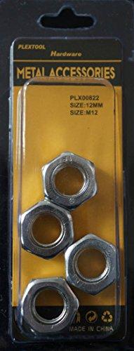 Plextool Hex Nut Size M12 4pcsPK 24 PKBOX Total 96pcs PLX00822