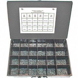 600 piece Assortment Kits 632 thru 14-20 Machine Screw Hex Nuts Lock Nuts Washers Lock Washers External Tooth Lock Washers Steel Zinc Plated
