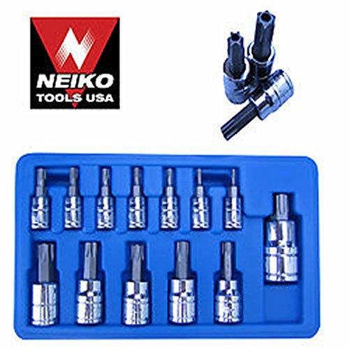 Neiko Tools 13-pc Tamper Proof Torx Socket Bit Set ~new