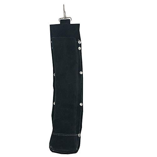 Flame-Resistant Electrode BagLeather Electrode HolderWelding Rod Pouch black