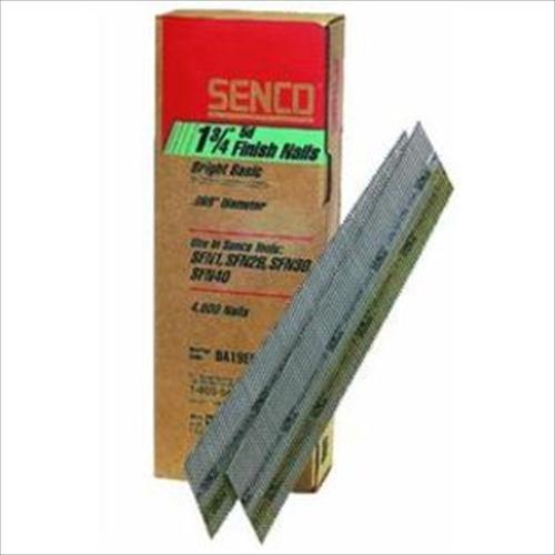 9000 Count Senco DA25EPB 2-12-Inch 15 Ga Bright Basic 34 Degree Angled Strip Standard Tensile Finish Nail