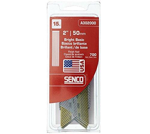 Senco A302000 15-Gauge by 2-Inch Bright Basic Finish Nail