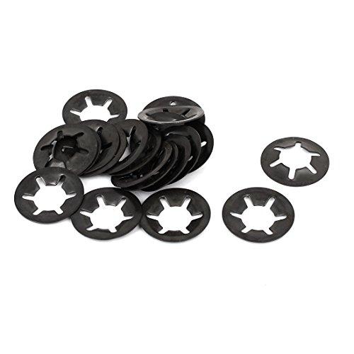 uxcell 12mm x 25mm Internal Tooth Starlock Star Lock Locking Washers 20PCS