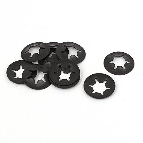 uxcell 6mm x 14mm Internal Tooth Starlock Star Lock Locking Washers 10PCS