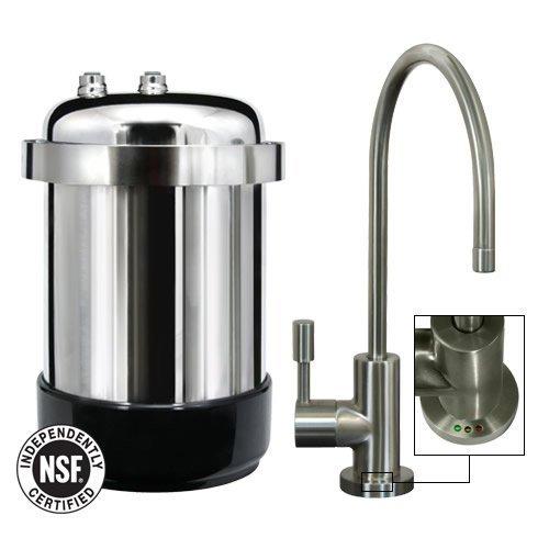 WaterChef U9000 Premium Under-Sink Water Filtration System Brushed Nickel Faucet