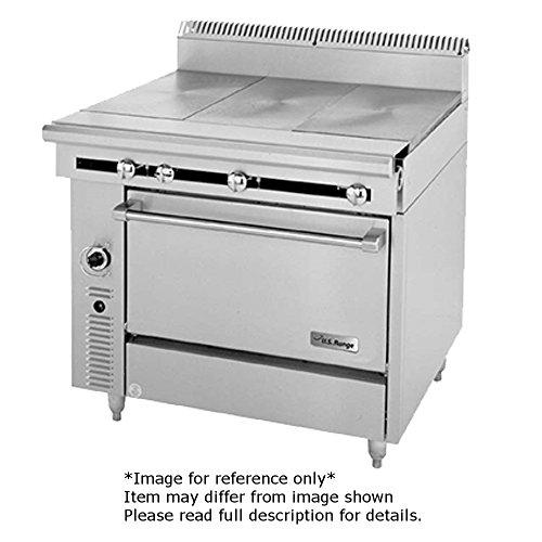 Garland C0836-8M Cuisine Series Heavy Duty 36 Gas Range with 3 12 Even Heat Hot Tops Modular Base