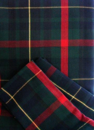 CS-L848 Navy Scottish Tartan 84 X 60 Tablecloth 8 Dinner Napkin Set Rectangular 100 Cotton Plaid Blue Red Green Yellow Christmas