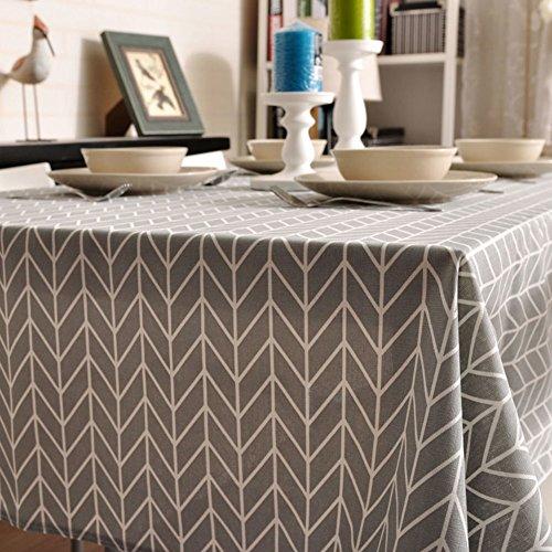 Simple fabric tableclothCotton plaid tableclothsTea table cloth-A 140x250cm55x98inch
